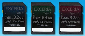 Toshiba sort des cartes mémoires SD performantes