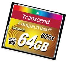 Des Compact Flash 600x de 8 à 64 Go chez Transcend