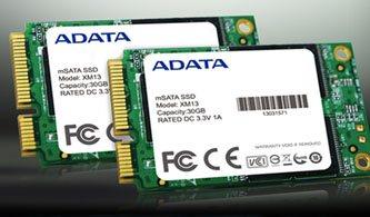 Nouveau SSD mSATA chez Adata : le XM13
