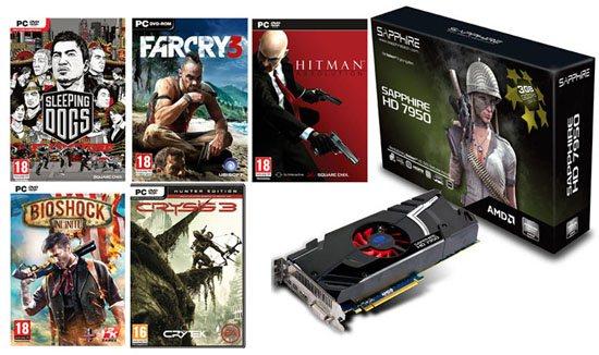 Bons Plans : 244,90 euros la Radeon HD 7950 + 5 jeux