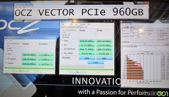 La version PCI Express du SSD Vector dévoile ses performances
