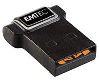 Emtec S200 : une clé usb de 32 Go de la taille d'une pièce de 10 centimes