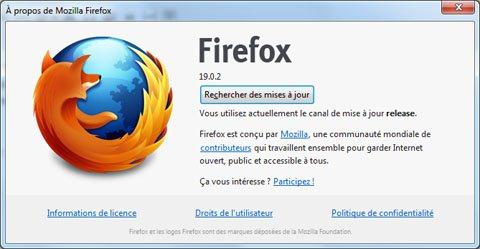 Une mise à jour mineure pour FireFox : la version 19.0.2