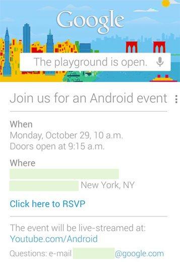 Google organise une conférence le 29 octobre