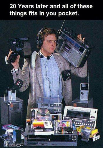 Nostalgie : tous les produits High Tech d'antan tiennent dans la poche