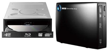 IO-Data s'offre également la gravure des Blu-ray en 16x