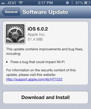 iOS 6.0.2 : une mise à jour pire que mieux …