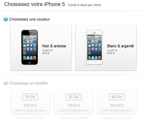 iPhone 5 : les précommandes sont ouvertes