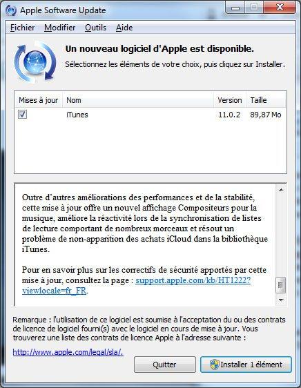 La version 11.1.5 d'iTunes est de sortie