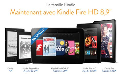 La Kindle Fire HD de 8,9 pouces est disponible en France
