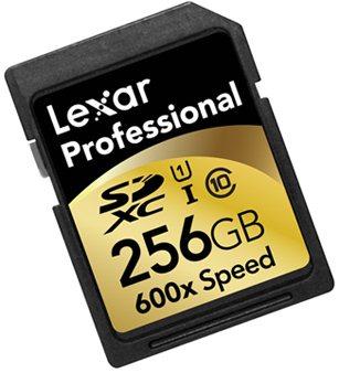 Lexar sort une carte SDXC 600X de 256 Go pour les professionnels