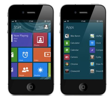 Comment offrir une interface Windows 8 à votre iPhone ?