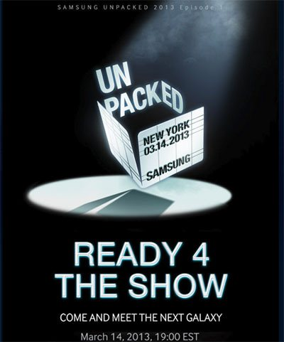 Samsung dévoilera le Galaxy S4 le 14 mars prochain