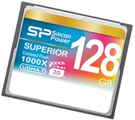 Une Compact Flash 1.000 X de 128 Go chez Silicon Power