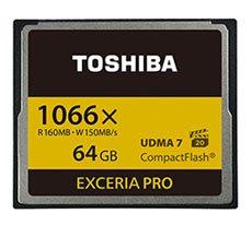 Toshiba lancera l'année prochaine la première Compact Flash 1066X