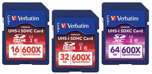 Verbatim lance plusieurs cartes SD UHS-I