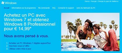 Windows 8 : l'offre de mise à jour est en ligne. Tout savoir sur cette offre !