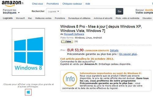 Windows 8 est déjà disponible en précommande