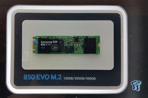 CES 2015 : Samsung expose des versions mSATA et M.2 du 850 EVO