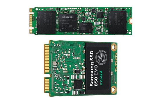 Des versions mSATA et M.2. du SSD 850 EVO sont annoncées