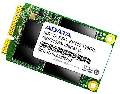ADATA sort un SSD au format mSATA : le SP310
