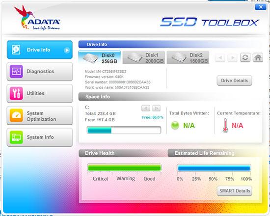 ADATA s'offre lui aussi un logiciel SSD Toolbox