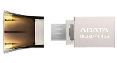 ADATA met sur le marché une nouvelle clé OTG : la UC330 (Maj2 : les prix)