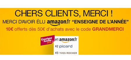 Bon Plan : Amazon.fr vous offre aujourd'hui 10 euros de remise dès 50€ d'achats