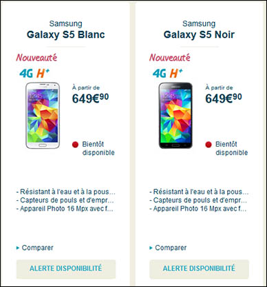 Combien coûtera le Galaxy S5 ? Ce sera 649 euros !