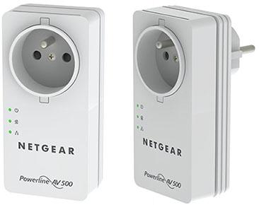 Soldes : 29,90 euros le pack de 2 CPL Netgear 500 Mbps