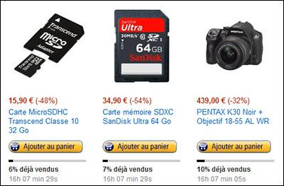 Bons Plans : un réflex et des cartes mémoires en promo chez Amazon.fr