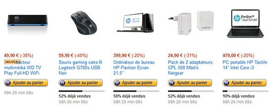 Bons Plans : PC, CPL, lecteur multimédia et souris en promo sur Amazon.fr