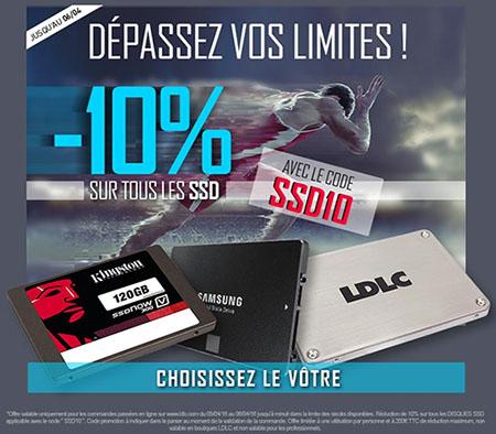 Bon Plan : LDLC offre 10% de réduction sur tous les SSD jusqu'à ce soir minuit