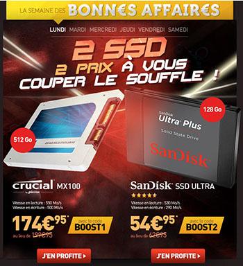Bons Plans : un SSD de 128 Go à 54,95 euros et un SSD de 512 Go à 174,95 euros !
