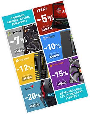 Bons Plans : LDLC offre de 5 à 20% de remise sur les marques MSI, XFX, Synology, Corsair, Thermaltake et Genius