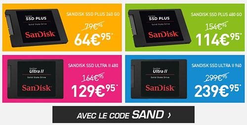 Bon Plan : 4 SSD SanDisk à prix passés chez LDLC !