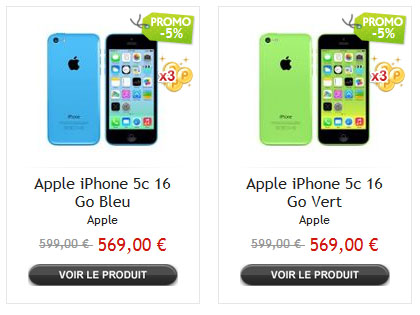 iphone 5c blanc 16go prix