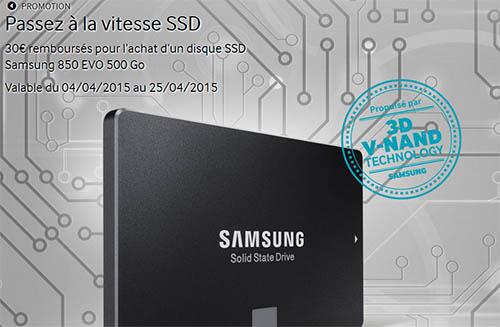 Bons Plans : le SSD Samsung 850 EVO de 500 Go à 169€ livré (après ODR)