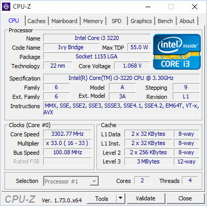 Le programme CPU-Z sort en version 1.74