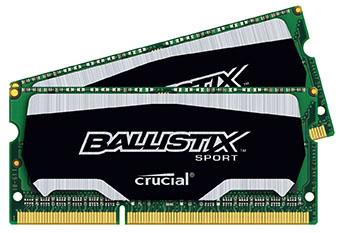 Crucial décline ses barrettes Ballistix Sport en version SODIMM pour PC portables