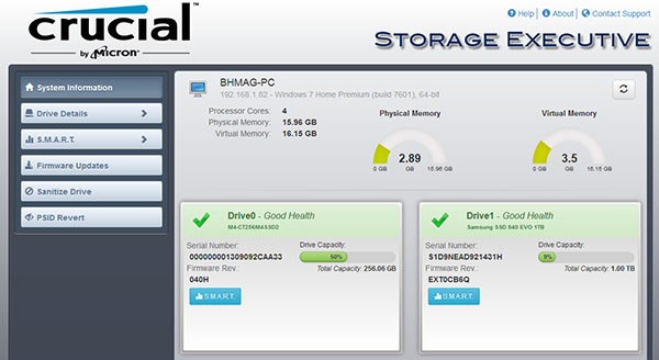 Crucial publie la version 3.20 de son programme Storage Executive