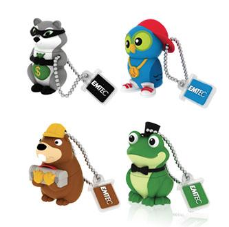 Emtec lance une nouvelle série de clés usb en forme d'animaux