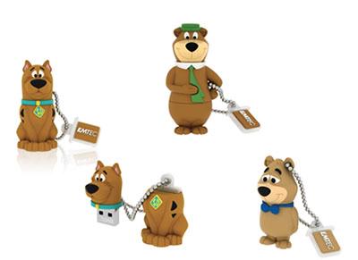 Des clés usb Scooby Doo, Yogi Bear et Boo Boo chez Emtec