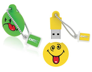 Une deuxième série de clés usb smilies chez Emtec