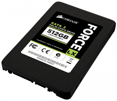 La famille Corsair Force LX s'agrandit avec un SSD de 512 Go