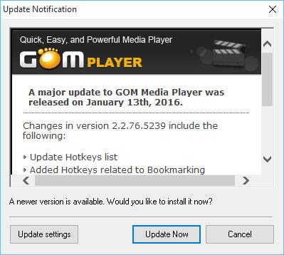 Le logiciel Gom Media Player s'offre une nouvelle version