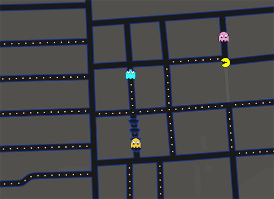 1er avril : On peut maintenant jouer à PACMAN sur Google Map