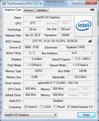Le programme GPU-Z sort en version 0.7.6