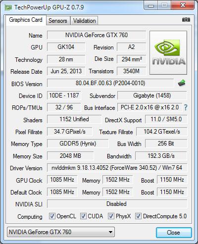GPU-Z passe en version 0.7.9  et supporte de nouvelles puces graphiques
