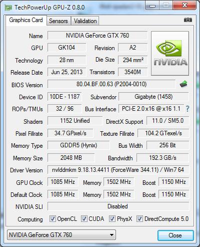 La version 0.8.2 de GPU-Z supporte Windows 10 et les dernières cartes graphiques